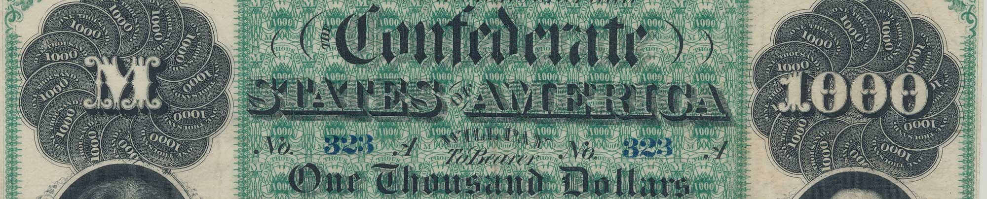 Confederate one thousand dollar bill